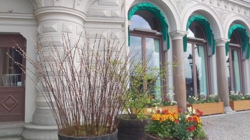 Plantering utanför Grand hotell