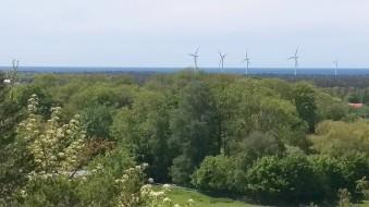Utsikt mot vindkraftverken