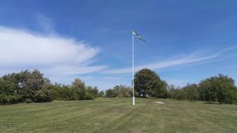 Flaggan är hissat