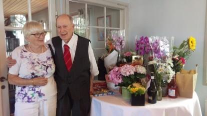 92-årige Rune och hans Birgitta
