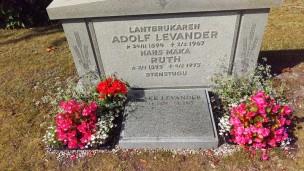 Här ligger svärfar och svärmor och Åke och här ska jag ligga när den dagen kommer