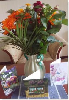 Blommor från barnbarnen