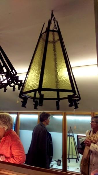 En lampa gjord av sablar