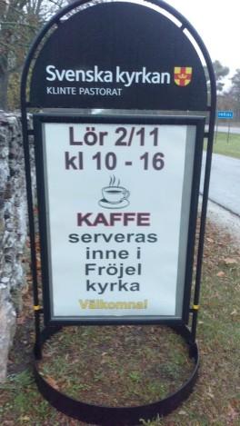 Fröjel bjöd på kaffe