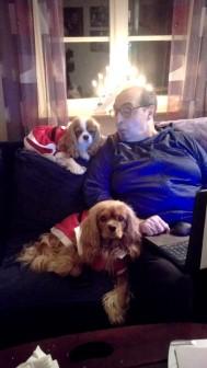 Trixi och Keila gillar att ligga hos Claudio