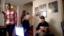 Edoardo, Matilda med lilla Ruben och Gaetano med Keila