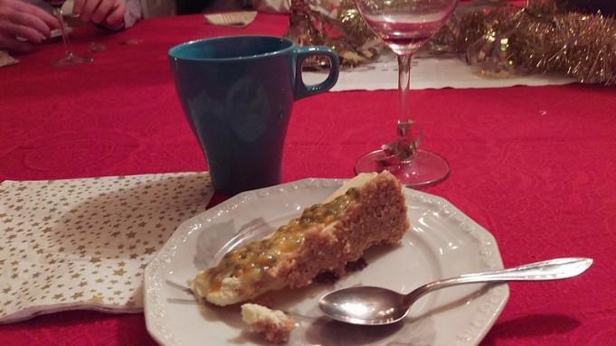 Edoardo och Matilda hade gjort en Cheescake till dessert