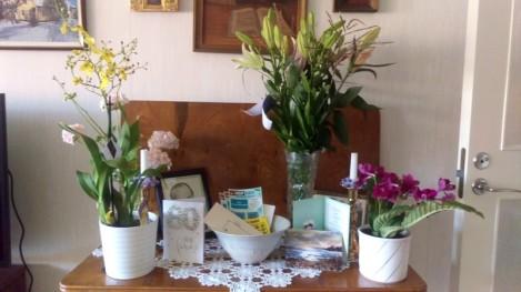 Blommor och födelsedagsgratulationer